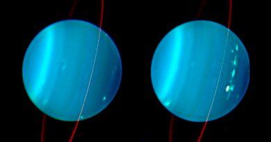 Un impacto explica la desconcertante inclinación de Urano y su sistema