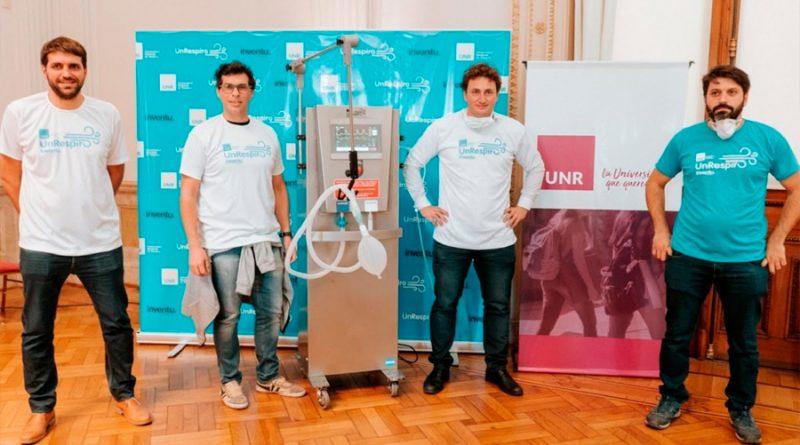 Presentaron en la Universidad de Rosario un innovador prototipo de ventilador mecánico