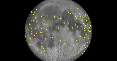 Registran un centenar de impactos de pequeños asteroides en la Luna en 3 años