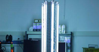 Ingenieros desarrollan un robot-lámpara de rayos UV que mata virus y bacterias