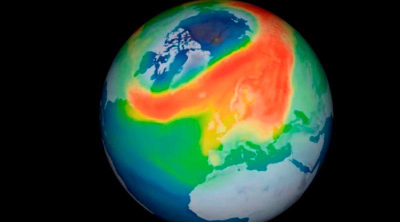 El mayor agujero de ozono jamás visto en el Ártico se cierra por una ola de calor