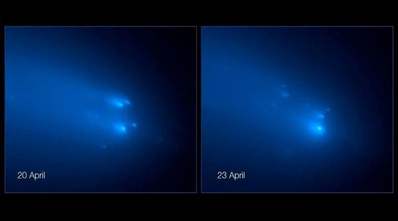 El Hubble capta las imágenes más nítidas de la rotura del cometa Atlas