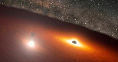 El telescopio Spitzer capta el clímax en una danza de agujeros negros