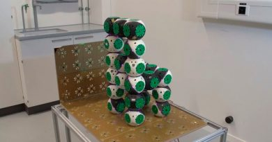 Estos mini-robots pueden unirse y formar distintos tipos de muebles