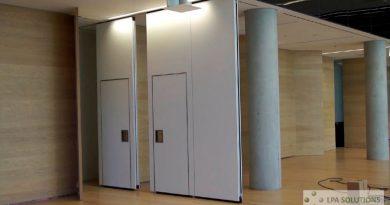 Singulares paredes móviles permiten crear salas y salones de la nada y desaparecen cuando no se usan