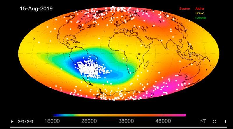 La anomalía magnética del Atlántico Sur desconcierta a los científicos