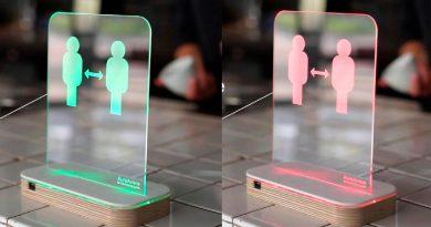 Un sensor para las tiendas avisa a los clientes si no mantienen la distancia social