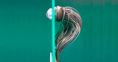 Crean un ojo robótico de alta resolución que se conecta por cable al nervio óptico