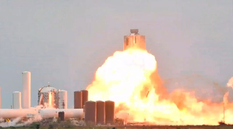 Brutal explosión de la nave de SpaceX para Marte durante unas pruebas