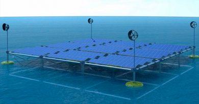 Esta es la primera plataforma que obtiene electricidad del viento, el sol y las olas, todo al mismo tiempo