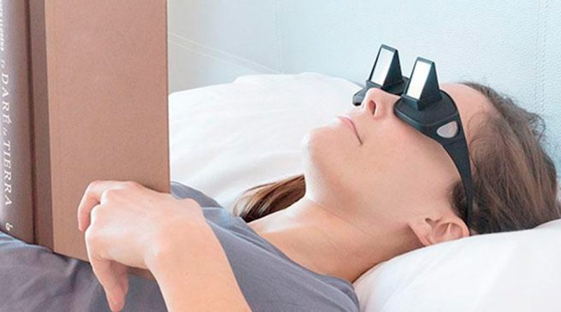 Gafas con prisma de visión horizontal: lee o ve la tele en la cama sin levantar el cuello