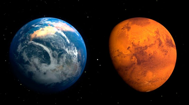 Impactos de asteroide crearon las moléculas de la vida en la Tierra y Marte