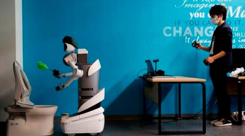 """""""Ugo"""", el robot japonés que aniquila el virus con luz ultravioleta"""