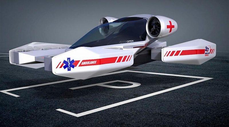 Una empresa rusa ya está probando ambulancias y coches de policía voladores con conexión 5G
