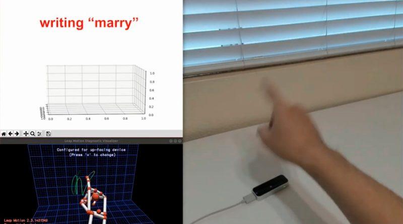 Este algoritmo puede reconocer el texto que escribes con tus dedos en el aire