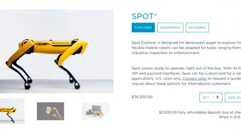 El perro robot de Boston Dynamics, a la venta: esto es lo que puede hacer