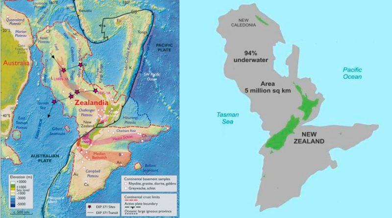 Zelandia, el octavo continente de la Tierra, ya tiene mapas detallados