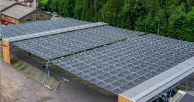 Crean un techo solar plegable que se contrae cuando el cielo se nubla