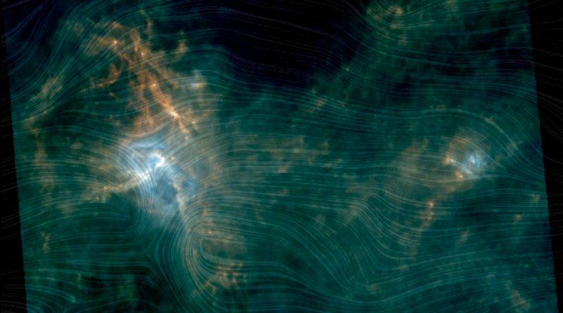Nuevas imágenes muestran la influencia de los campos magnéticos en la formación estelar