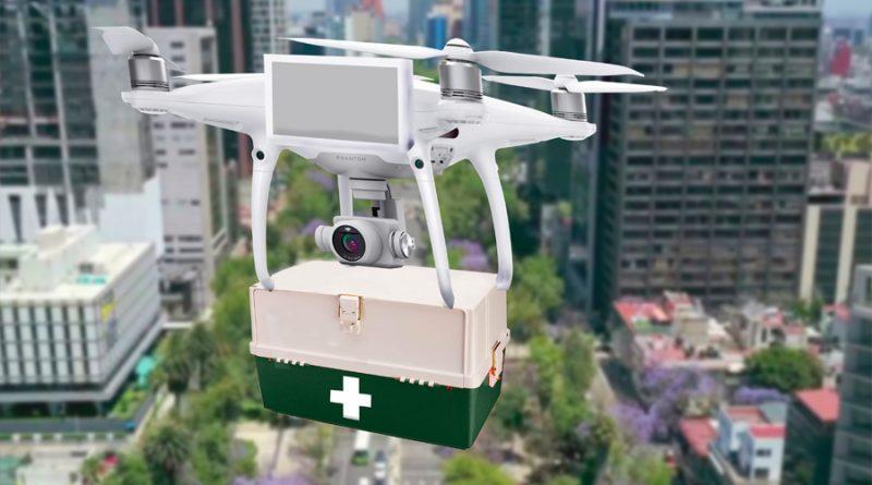 Estudiante mexicano crea sistema para transportar vía drones pruebas de Covid-19