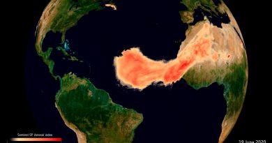 """Dos satélites captan a 'Godzilla', la """"inusual"""" columna de polvo del Sahara"""