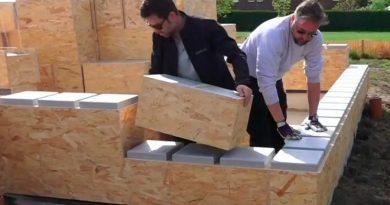 Con bloques como Lego: así es el novedoso método para construir tu casa en seis días