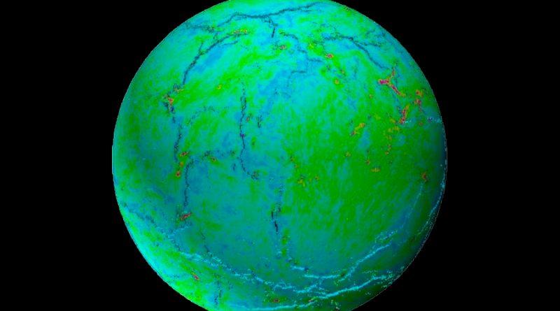 Nueva explicación a cómo el caparazón terrestre se dividió en placas