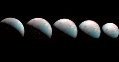 Primeras imágenes del polo norte de la luna gigante Ganímedes