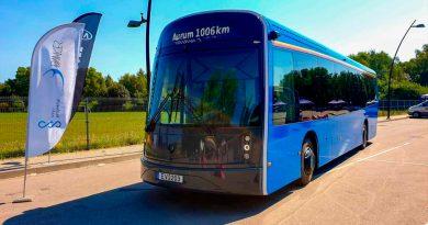 Este autobús eléctrico está hecho con botellas recicladas y se carga en 6 minutos