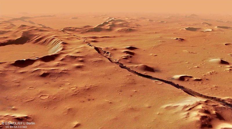Marte estaba cubierto de capas de hielo en sus orígenes, y no de ríos que fluían
