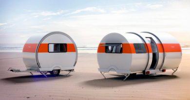 La caravana que se estira y triplica su tamaño