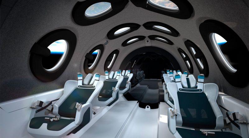 Virgin Galactic presenta su cabina de las naves para paseos en el espacio