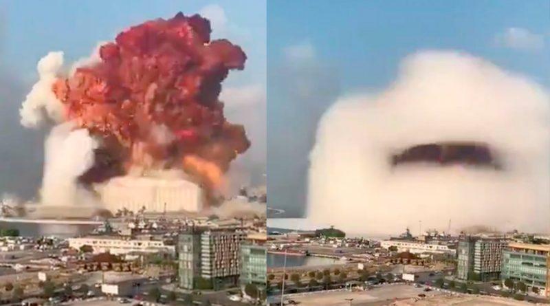 Expertos explican la ciencia detrás de la nube con forma de hongo en las explosiones de Beirut
