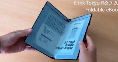 Las nuevas pantallas de tinta electrónica plegables convierten los ebooks en verdaderos libros