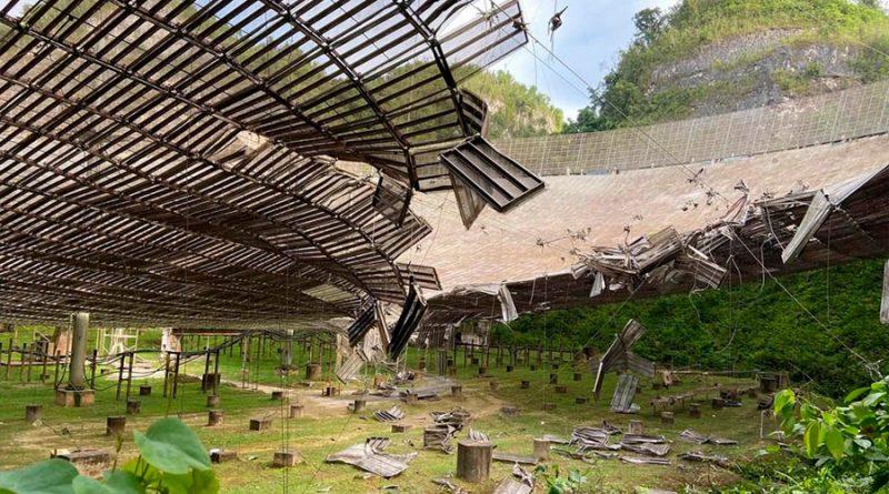 El tercer radiotelescopio más grande del mundo gravemente dañado por una rotura de 30 metros