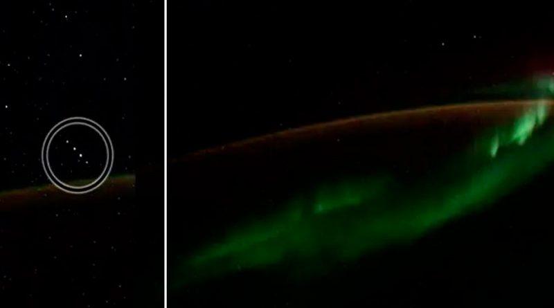 Cosmonauta graba aurora boreal desde el espacio y capta objetos no identificados