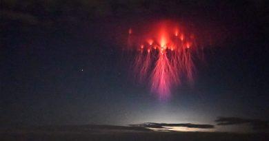 """Raro fenómeno: captan una impresionante """"medusa roja"""" en el cielo de Texas"""