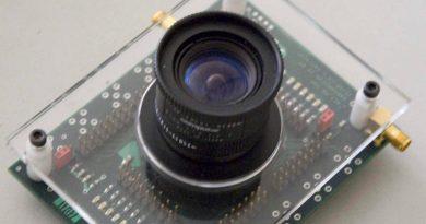 El lente de esta cámara ultra rápida capta una haz de luz rebotando en espejos