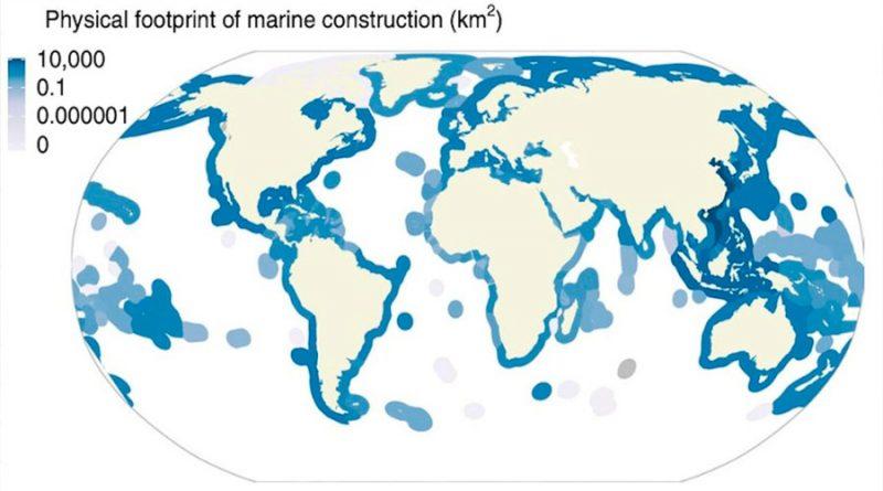 Unos 30 mil kilómetros cuadrados de océano, alterados por el ser humano