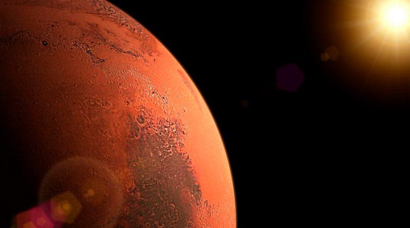 Descubren evidencias de tres lagos de agua salada escondidos bajo el polo sur de Marte