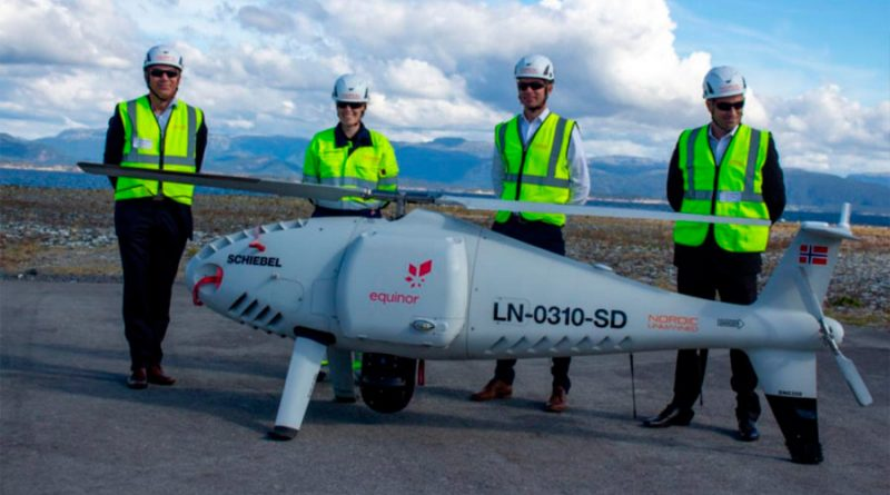Este dron bate un récord mundial al hacer una entrega de 100 Km en una plataforma de gas en alta mar
