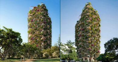 Este edificio de 30 pisos tiene más árboles y plantas que un parque urbano