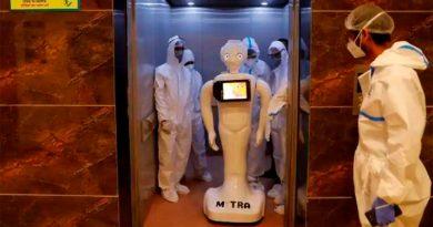 Este es el robot que conecta a los pacientes de un hospital con sus familiares