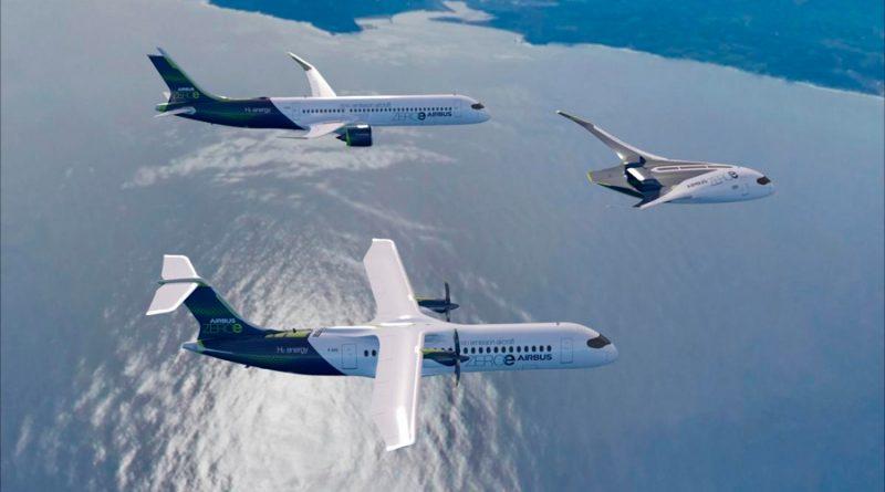 Airbus presenta ZEROe, sus nuevos aviones de hidrógeno con cero emisiones