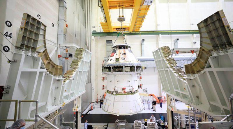 Primera imagen de la nave Orion integrada para ir a la Luna