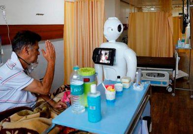 Mitra, el robot indio que conecta a los pacientes de hospitales con sus familias