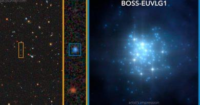 Descubren galaxia cuya luminosidad ultravioleta es comparable a la de cuásar
