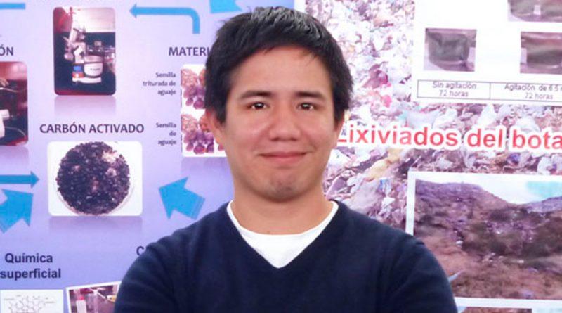 Joven innovador peruano transforma un desecho natural en materia prima que purifica el agua