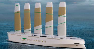 Un gran buque transportará 7 mil coches impulsado por energía eólica