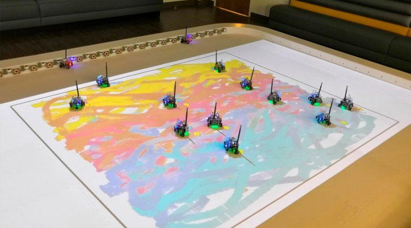 Enjambres de robots siguen instrucciones para crear arte
